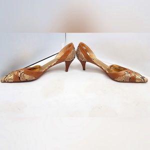 Prada Snakeskin Pointed D'Orsay Heels Sz 39/8.5